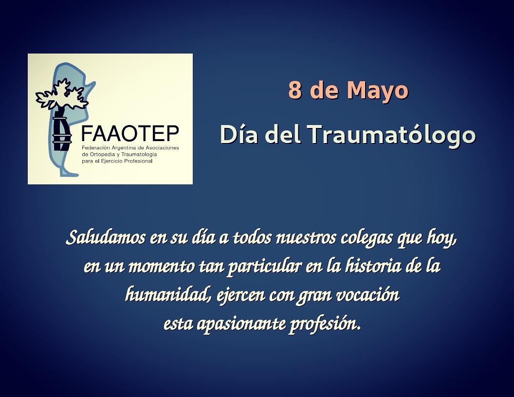 8 de Mayo – Día del Traumatólogo en Argentina