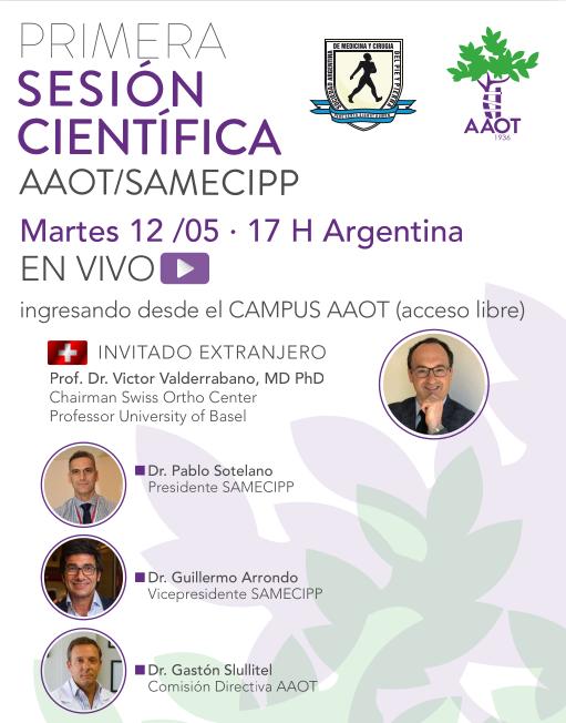 Primera Sesión Científica AAOT/SAMeCiPP