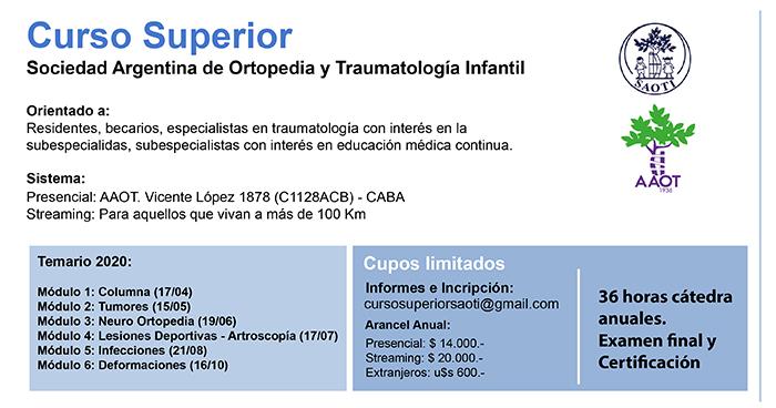 Curso Superior Bianual de la Sociedad Argentina de Ortopedia y Traumatología Infantil